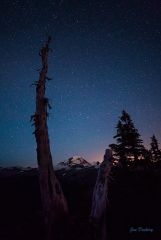 Mt. Baker and stars