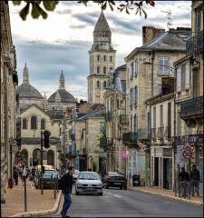One of the main streets of Périgueux, France